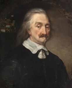 Portret van de filosoof Thomas Hobbes (1588-1679)