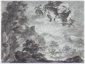 Perseus vliegt weg met de hoofd van Medusa (Metamorfosen)