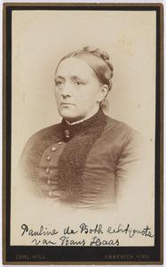 Portret van Pauline Amalia de Both (1830-...)
