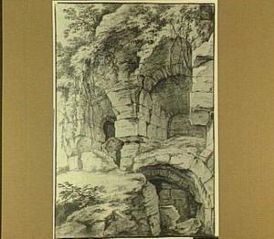 Romeinse ruïne, waarschijnlijk het Colosseum te Rome