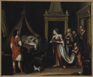 Amnon houdt zich ziek, Tamar brengt hem koeken  (2 Samuel 13)