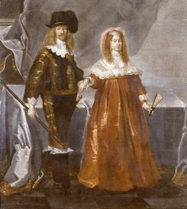 Portret van Hannibal Sehested (1609-1666) en zijn echtgenote Christiane (1626-1670)