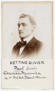 Portret van Paul Justus Ketting Olivier