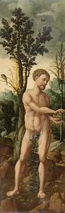 Adam krijgt de verboden vrucht  van Eva (Genesis 3:6)