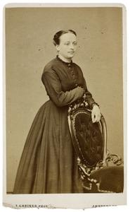 Portret van Jacoba Catharina Adriana van Hoven (1839-1914)