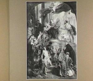 Tronende Maria met heiligen