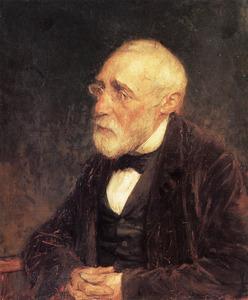 Portret van Jozef Israels (1824-1911)