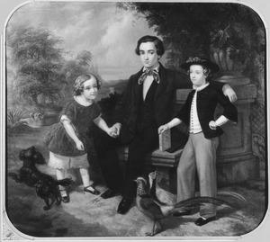 Portret van Jan Gerard Kemmerling (1838-1900), Ferdinand Hugo Kemmerling (1847-1895) en Victor August Kemmerling (1845-1870)