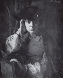 Portret van Maria Elisabeth Georgina Ansingh (1875-1959)