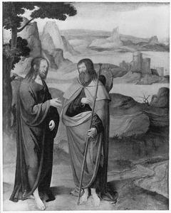 Jacobus de Meerdere ontmoet Christus in een landschap