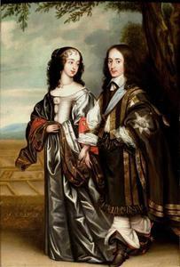 Dubbelportret van Willem II van Oranje-Nassau (1626-1650) en Maria I Stuart (1631-1661)