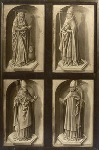 De vier kerkvaders: Hieronymus, Gregorius, Augustinus en Ambrosius