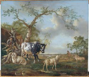 Landschap met vee en herder
