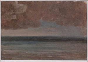 Zee bij Ischia bij naderende storm