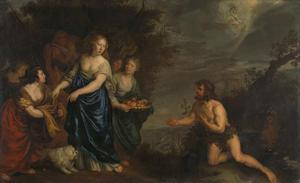 De ontmoeting van Odysseus en Nausikaä