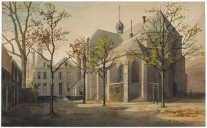 Pieterskerkhof in Utrecht met de Pieterskerk