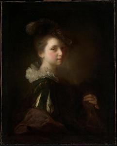 Jonge vrouw in Spaans kostuum