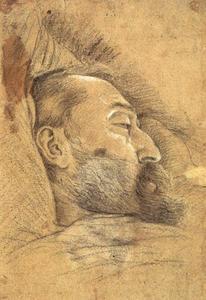 Doodsbedportret van Christoph Schwarz (?-1592)