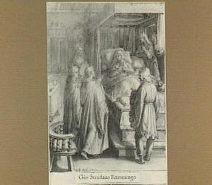 De H. Giovanni Gualberto bezoekt een zieke vrouw