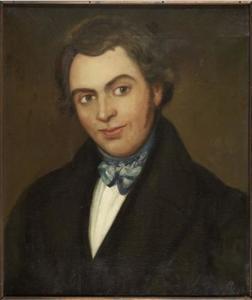 Portret van Jan Alberts Aukes (1801-1855)