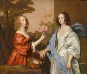 Dubbelportret van Anne Lady Manchester en haar dochter Anne Cavendish, Lady Rich (1611-1638)