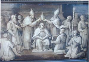 De investituur van een (Heilige?) bisschop