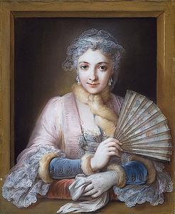 Portret van Charlotte Philippine de Chatre du Cange, markiezin van Lamure