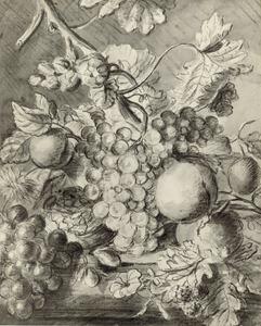 Vruchtenstilleven op een tafel