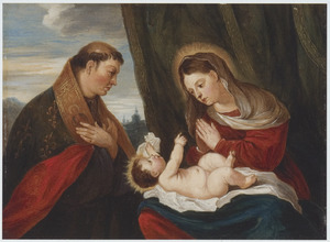 De Madonna met het Kind en de H. Lodewijk van Toulouse