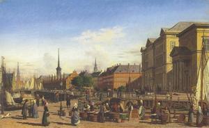 Gezicht op Christiansborg in Kopenhagen