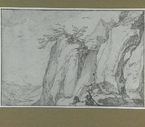 Waterval in berglandschap