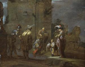 De apostel Philippus en de doop van de kamerling