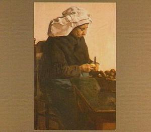 Aardappelschillende Brabantse vrouw