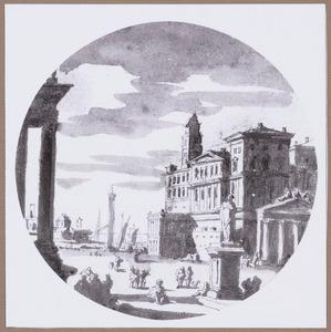 Capriccio van een Italiaanse haven