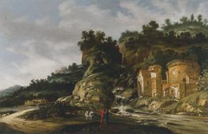 Zuidelijk landschap met ruïnes; op de voorgrond Cincinnatus die hoort dat hij is gekozen tot dictator