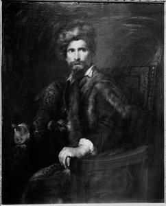 Portret van een onbekende man in armstoel