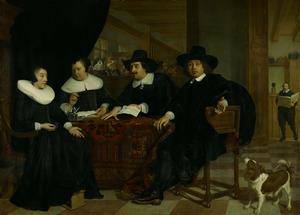 Regenten en regentessen van het Spinhuis Amsterdam 1650