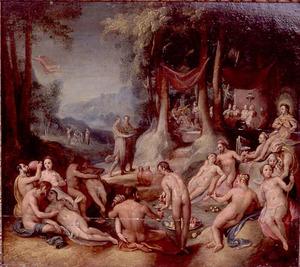 De bruiloft van Peleus en Thetis