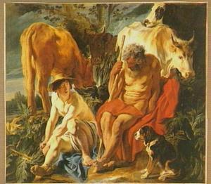 Mercurius maakt zich op  Argus te onthoofden (Ovidius, Met. I, 568-723)