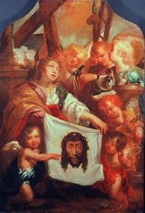 De H. Veronica met doek waarop de beeltenis van Christus