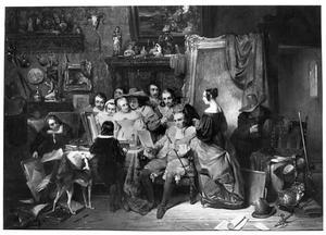 De kunstkenners in het atelier van de schilder