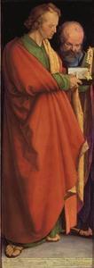 De apostelen Johannes en Petrus