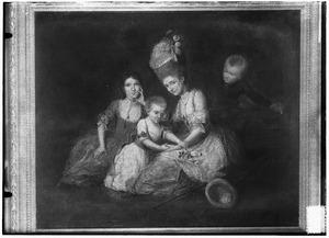 Portret van de kinderen van Johan Gerard van Oldenbarneveld en Maria Margaretha Henrica van Hoey