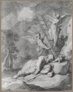 De droom van Jacob: engelen dalen af uit de hemel langs een ladder  (Genesis 18:20-22)