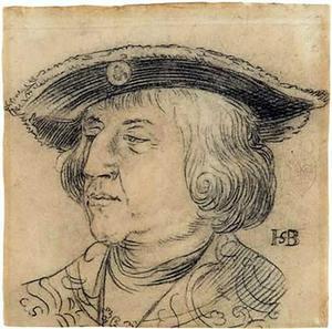 Portret van keizer Maximiliaan I van Habsburg (1449-1519)