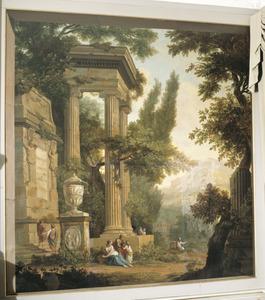 Klassiek arcadisch met het monument van de verliefde herder