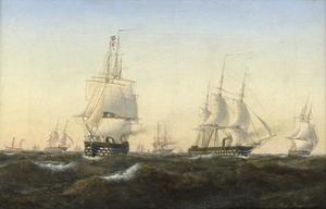 Zeilschepen in open zee