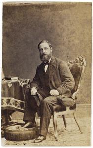 Portret van Lodewijk Alfred August Gevers (1828-1887)