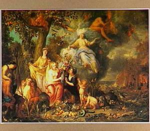 Allegorie op de vier elementen Aarde, Water, Vuur en Lucht