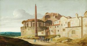 Gezicht op de Santa Maria della Febbre te Rome